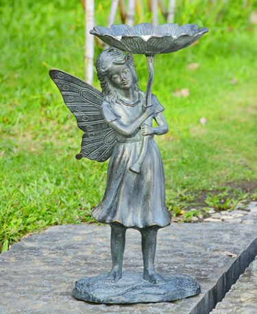 Kind Fairy Garden Birdbath/Feeder - Click to enlarge