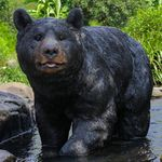 "Large Black Bear Walking Statue ""Ultra-Realistic"""