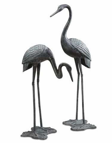 Large Brass Garden Cranes (Set of 2) - Click to enlarge
