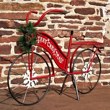 Large Christmas Bicycle Decor - Click to enlarge