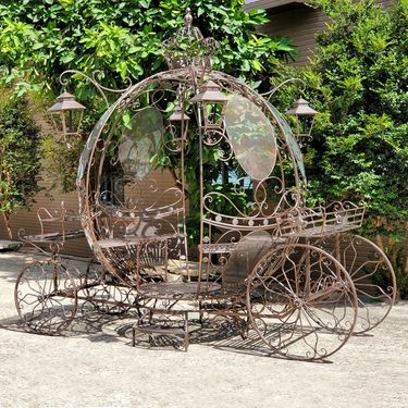 Large Cinderella Carriage Stand - Antique Bronze - Click to enlarge
