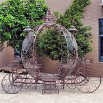 Large Cinderella Carriage Stand - Antique Bronze