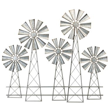 Large Country Windmills Wall Decor (Set of 2) - Click to enlarge
