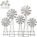 Large Country Windmills Wall Decor (Set of 2)