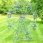 "Large Ferris Wheel ""Atlantic"" w/8 Hanging Lanterns - Antique Green"