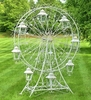 "Large Ferris Wheel ""Atlantic"" w/8 Hanging Lanterns - Antique White"