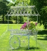 "Large Flower Cart ""Paris 1968"" - White"