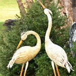 Large Rustic Heron Birds (Set of 2)