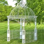 Large Imperial Iron Garden Gazebo - Antique White