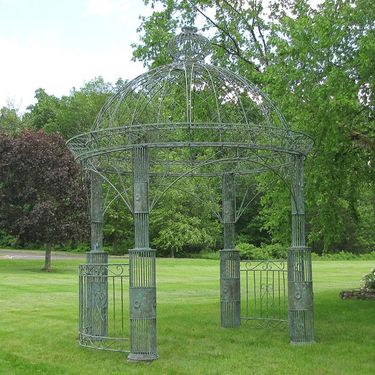 Large Imperial Iron Garden Gazebo - Verdi Green - Click to enlarge
