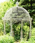 "Large Iron Garden Gazebo ""Valiko"" - Antique White"