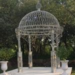 "Large Iron Garden Gazebo ""Valiko"" - Frost Blue"