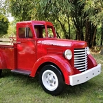 "Large Iron Red ""CHARLESTON"" Truck w/LED Lights"