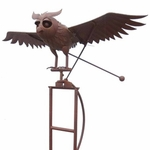 Large Iron Rocking Owl w/Moving Wings (non-solar)