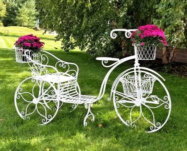 Large Iron Tricycle Plant Stand