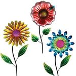 "36"" High Impact Metal Flower Stakes (Set of 3)"