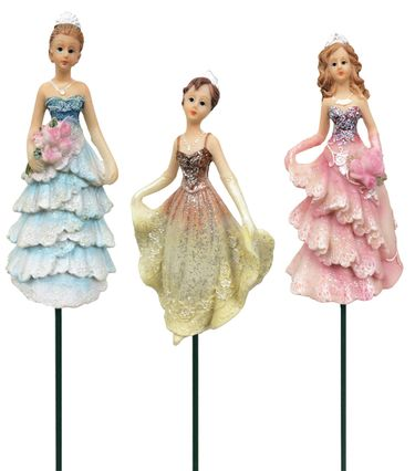 Large Princess Garden Stakes (Set of 10) - Click to enlarge