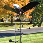 Large Iron Rocking Eagle w/Moving Wings