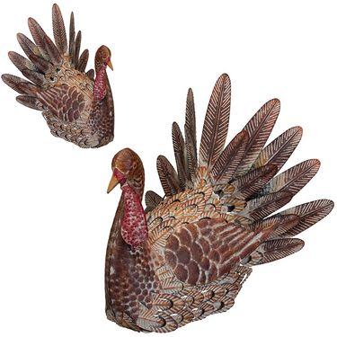Thanksgiving Rustic Turkeys (Set of 2) - Click to enlarge