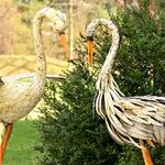 Large Rusty Dancing Herons (Set of 2)