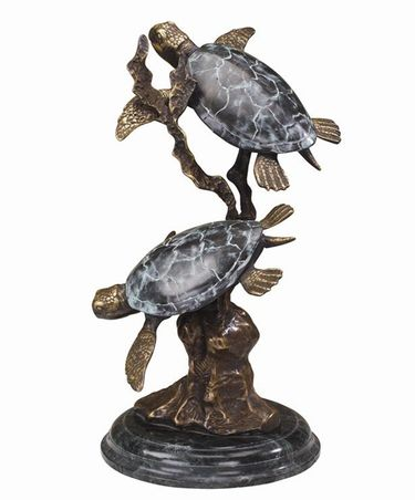 Large Sea Turtle Duet Sculpture - Click to enlarge
