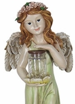 Large Solar Fairy Statue w/Jar of LED Fireflies