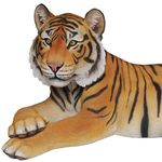 "Large Tiger Laying Down Statue ""Ultra-Realistic"""