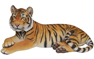 Large Tiger Laying Down Statue