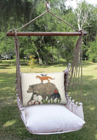 Latte Go Wild Hammock Chair Swing Set - Click to enlarge