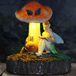 LED Fairy Statue Reading w/Timer