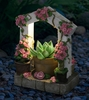 LED Pink Flower Trellis Planter w/Timer