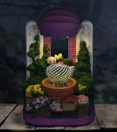 LED Purple Awning Planter w/Timer - Click to enlarge