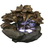 Rainforest Leaves Tabletop Fountain w/LED Lights