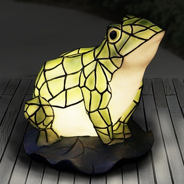 LED Tiffany Frog Statue - Battery Powered - Click to enlarge