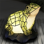LED Tiffany Frog Statue - Battery Powered