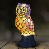 LED Tiffany Owl Statue - Battery Powered