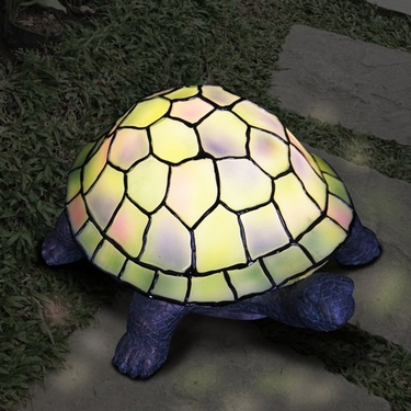 LED Tiffany Turtle Statue - Battery Powered - Click to enlarge