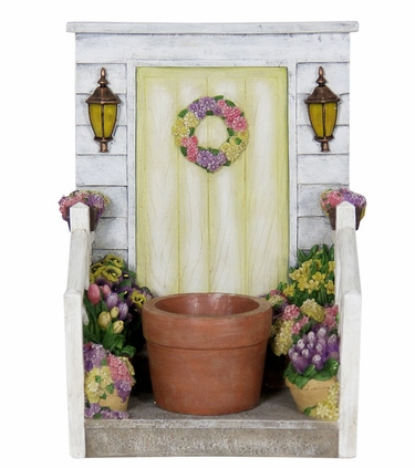 LED Yellow Door Planter w/Timer - Click to enlarge