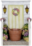 LED Yellow Door Planter w/Timer