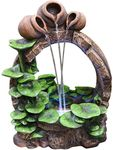 Lilypad Trinity Outdoor Fountain w/LED Lights