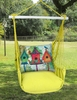 Lime Yellow 3 Birdhouses Hammock Chair Swing Set