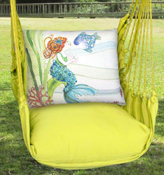 Lime Yellow Tiny Mermaid Hammock Chair Swing Set - Click to enlarge