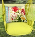 Lime Yellow Vintage Tulip 1 Hammock Chair Swing Set