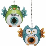 Love Birds Welcome Bird Houses (Set of 2)