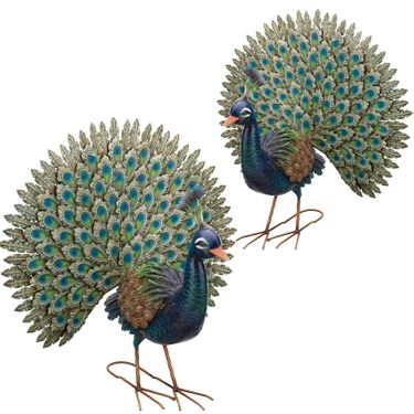 Majestic Peacocks (Set of 2) - Click to enlarge