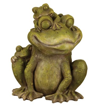 Mama & Baby Frog Garden Statue - Click to enlarge