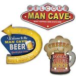 """Man Cave"" Light up Wall Signs (Set of 6)"