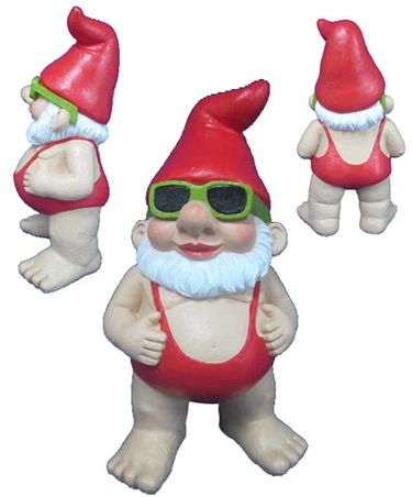 Original Sammi Mankini Gnome Statue - Click to enlarge