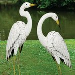 Marshall Metal Egret Birds (Set of 2)