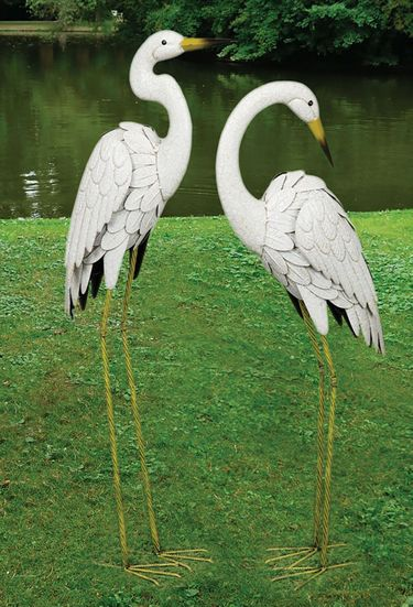 Marshall Metal Egret Birds (Set of 2) - Click to enlarge